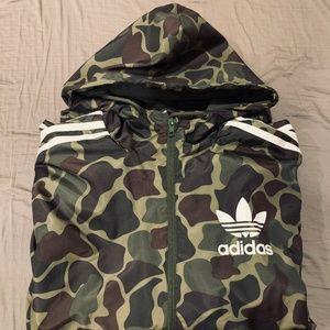 Men's Small Adidas Camo Zip Up Jacket